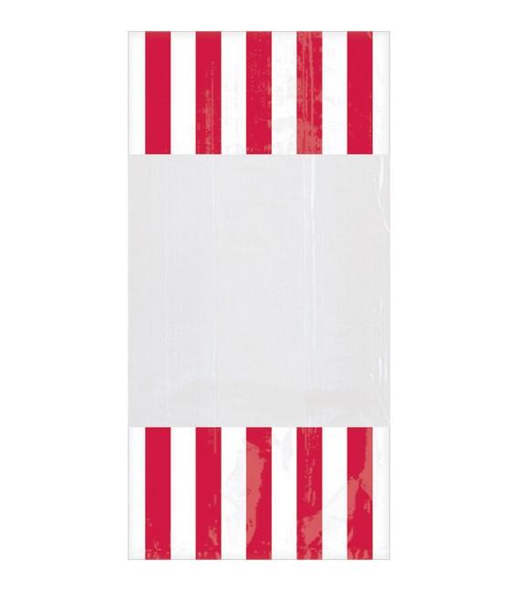 Sacchetti cellophane striped 13 x 25 cm Rosso 10 Pz