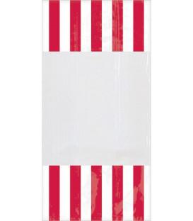 Sacchetti per caramelle in cellophane striped rosso