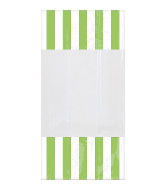 Sacchetti cellophane striped 13 x 25 cm Verde 10 Pz