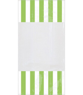 Sacchetti per caramelle in cellophane striped verde