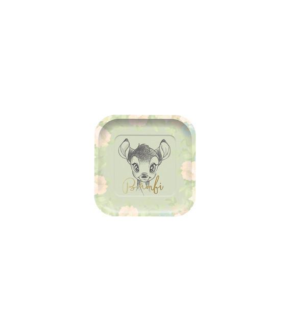 Piatto quadrato Bambi 23 cm Disney