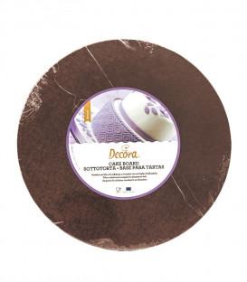 Sottotorta Vassoio Rigido Tondo Marrone H 1,2 cm