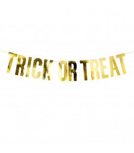 Festone Banner - Trick or Treat Gold PartyDeco