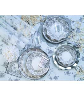 Tovaglioli Noblesse Argento 33 x 33 cm 3 confezioni