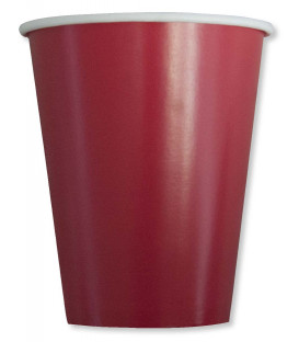 Bicchieri Compostabili Rosso Fragola 250 cc