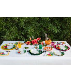 Piatti Piani di Carta a Petalo Tropical