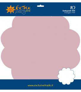 Tovagliette in TNT Smerlate Rosa Pastello 35 cm