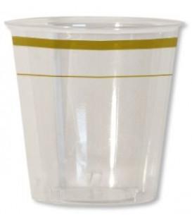 Bicchieri di Plastica Bordo Oro 300 cc