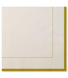 Tovaglioli Bordo Oro Classic Gold 33 x 33 cm 3 confezioni