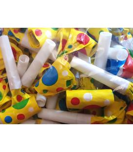 Trombette di carnevale colorate miste 36pz