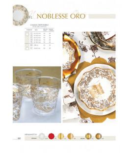 Piatti Piani di Carta a Petalo Noblesse Oro