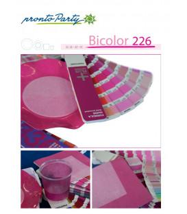 Piatti Piani di Carta a Petalo Bicolore Pink - Lilla 27 cm