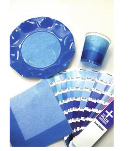 Tovaglioli 3 Veli Bicolore Turchese - Blu Cobalto 33x33 cm 3 confezioni