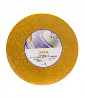 Sottotorta Vassoio Rigido Tondo Arancione H 1,2 cm