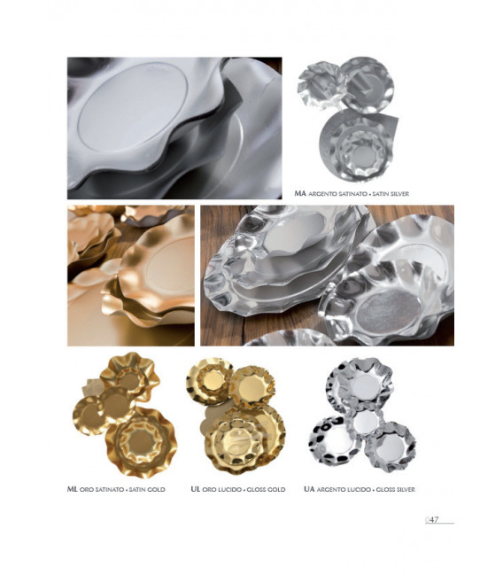 Zuppiera Grande di Carta a Petalo Oro Metallizzato