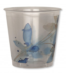 Bicchieri di Plastica Fiore Blu 300 cc