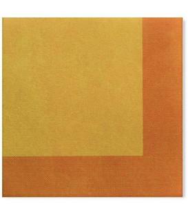 Tovaglioli 3 Veli Bicolore Giallo - Arancione 33 x 33 cm 3 confezioni