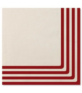 Tovaglioli Navy Rosso 33 x 33 cm 3 confezioni