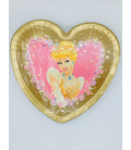Piatto Piano Grande di Carta a Cuore Princess Royal Cenerentola Disney