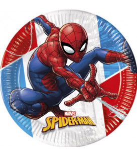 Piatto Piano Compostabile SpiderMan Super Hero 23 cm