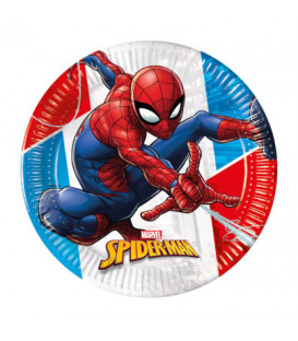 Piatto Piano Compostabile SpiderMan Super Hero 20 cm