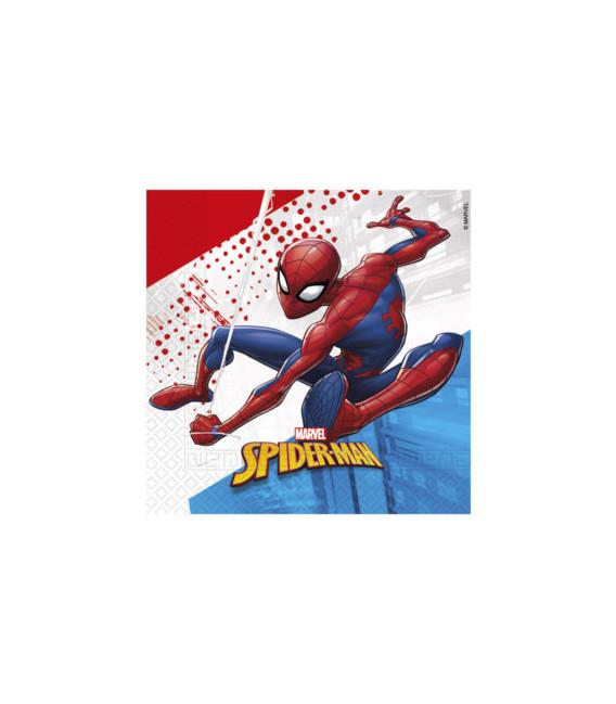 Tovagliolo Compostabile 3 veli SpiderMan Super Hero 3 Pz
