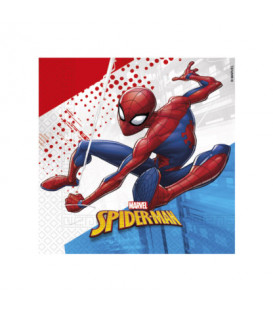 Tovagliolo Compostabile 3 veli SpiderMan Super Hero 3 Pz