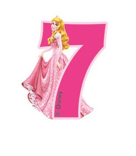 Birthday Candle N. 7 Princess Aurora Disney