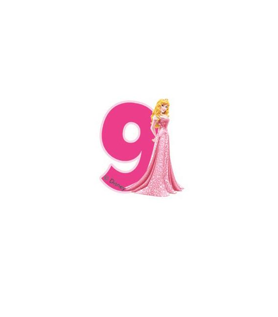 Birthday Candle N. 9 Princess Aurora Disney
