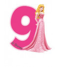 Birthday Candle N. 9 Princess Aurora Disney