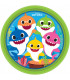 Piatto piano di carta 23 cm Baby Shark 8 pz