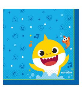 Tovagliolo 33 x 33 cm Baby Shark 16 pz