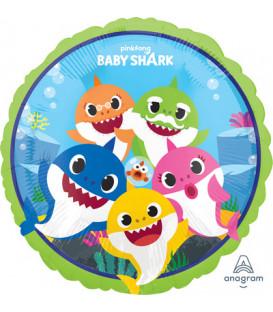 "Pallone foil standard 17"" - 42 cm Baby Shark 1 pz"