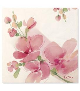 Tovaglioli 3 Veli Fiore Rosa 3 confezioni