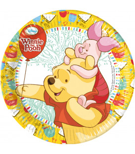 Piatto Piano grande di Carta 23 cm Winnie the Pooh Sweet Tweets Disney