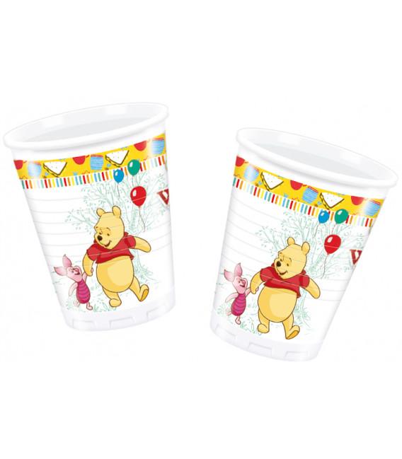 Bicchieri di Plastica 180 - 200 cc Winnie the Pooh Sweet Tweets Disney
