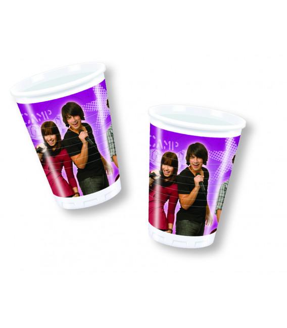 Bicchieri di Plastica 180 - 200 cc Camp Rock Disney Channel