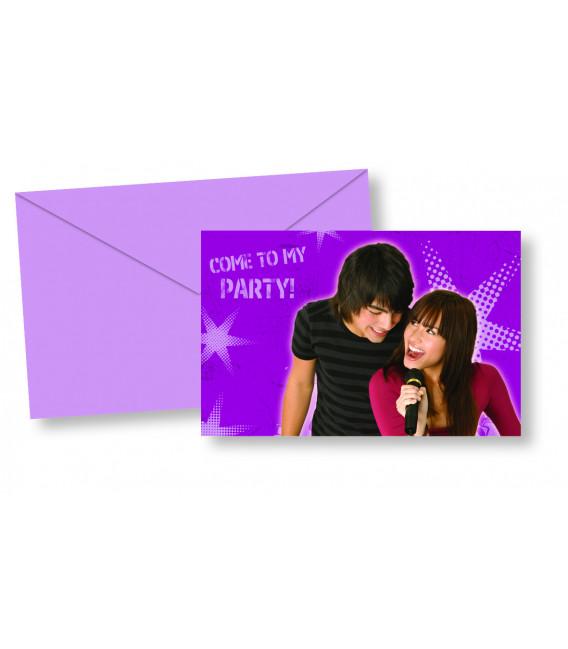 Biglietti Inviti Compleanno Camp Rock Disney Channel