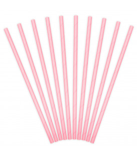 Cannucce Paper Straws Light Pink 10 Pz PartyDeco