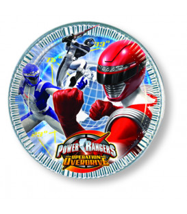 Piatto piano grande 23 cm Power Rangers Operation Overdrive