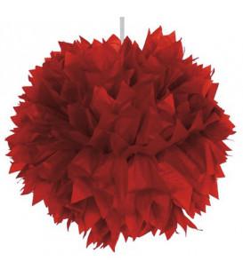 Fluffy carta rosso 30 cm 1 pz