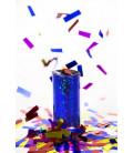 Set 2 Mini sparacoriandoli da tavolo Blu Cobalto 15 cm