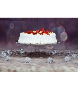 Alzata per Torte di plastica 25 cm H 7 cm 1 pz