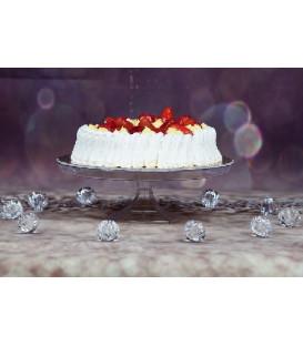 Alzata per Torte di plastica 30 cm H 7 cm 1 pz