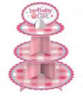 Alzata per dolci Happy Birthday 1 Pz