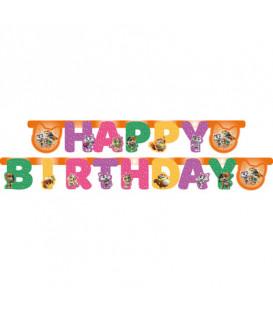 Festone Happy Birthday 44 Gatti 1 pz