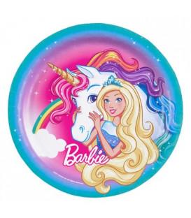 Piatto 23 cm Barbie Dreamtopia 8 pz