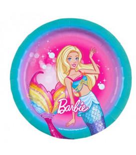 Piatto 18 cm Barbie Dreamtopia 8 pz