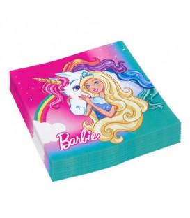 Tovagliolo 33 x 33 cm Barbie Dreamtopia 3 confezioni