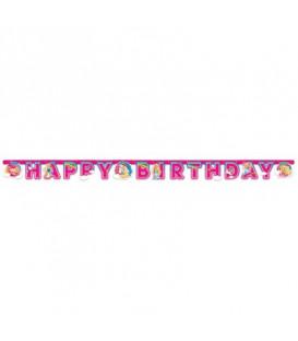 Festone Happy Birthday 200 x 15 cm Barbie Dreamtopia 1 pz